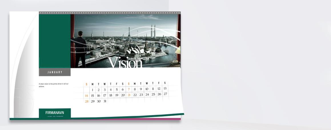 Billedkalender - 2 uger pr linje