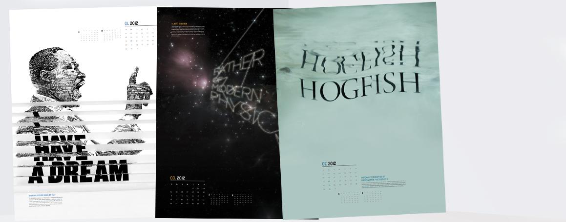 Kreativ billedkalender - 3 mdr pr blad